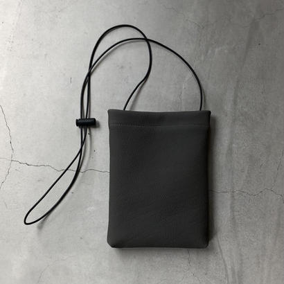 ERA. / BUBBLE CALF H SHOULDER BAG / col.グレー