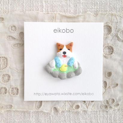 eikobo  |  温泉犬ブローチ