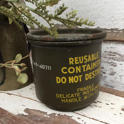 vtg military steel can