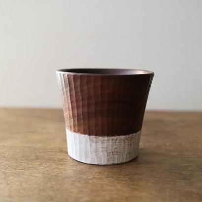 安藤由紀  木のカップ