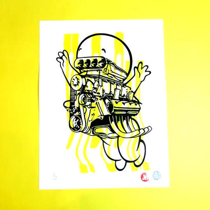 【SILK SCREEN PRINT】Cherzes La Ghost by  Jeroen Huijbregts