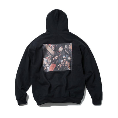 CARRING THE CROSS HOODIE  (BLACK) : Hieronymus Bosch【CC18SS-005】