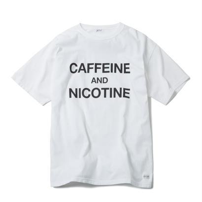 CAFFEINE & NICOTINE TSHIRT (WHITE)【CC18SS-021】