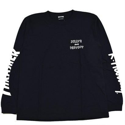 Keith Haring × THRASHER 35th Long Sleeve T-shirt Black【KH-035】