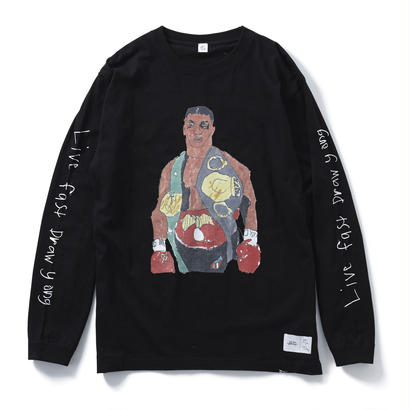 IRON MIKE LONG SLEEVE TEE(BLACK) : YUNG LENOX【CC16AW-TS-002】