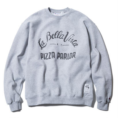 PIZZA BOY CREWNECK(GREY) :  STIKSTOK【CC16AW-SW-004】