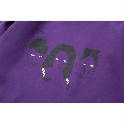 CREEP CREWNECK (PURPLE)  :  GANGSTER DOODLES【CC18SS-008】