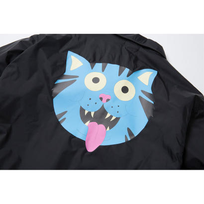 FRITZ THA CAT COACH JACKET (BLACK) : GANGSTER DOODLES【CC18SS-002】