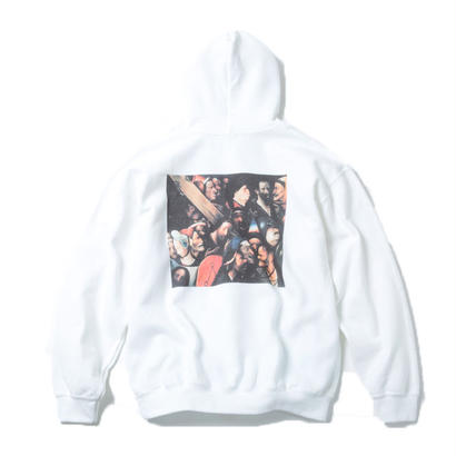 CARRING THE CROSS HOODIE  (WHITE) : Hieronymus Bosch【CC18SS-005】