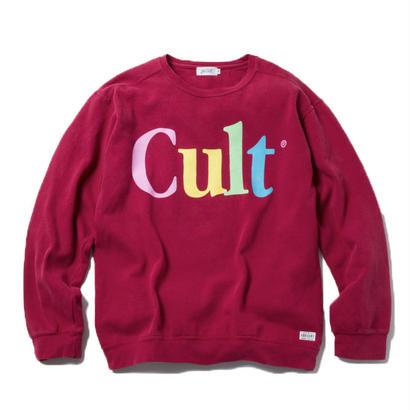 CULT CREWNECK (BURGUNDY)【CC18SS-013】