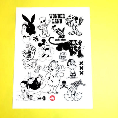 【SILK SCREEN PRINT】Wonderland by Jeroen Huijbregts