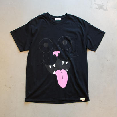 FRITZ THE POCKET TSHIRT by GANGSTER DOODLES (BLACK)【CC0006】