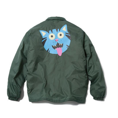 FRITZ THA CAT COACH JACKET (GREEN) : GANGSTER DOODLES【CC18SS-002】