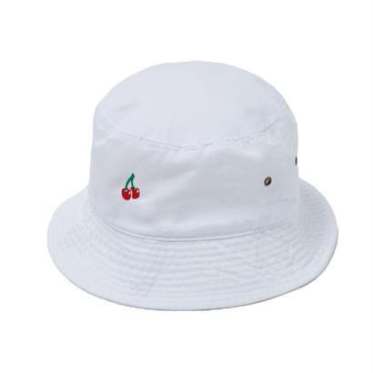 CHERRY BOY BUCKET HAT  (WHITE)【CC18SS-033】