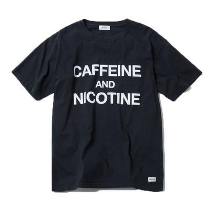 CAFFEINE & NICOTINE TSHIRT (BLACK)【CC18SS-021】