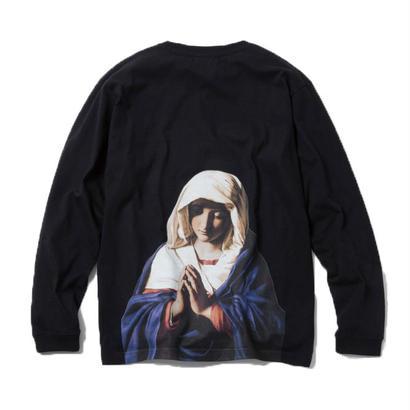 VIRGIN MARY LONG SLEEVE TSHIRT (BLACK)【CC18SS-015】
