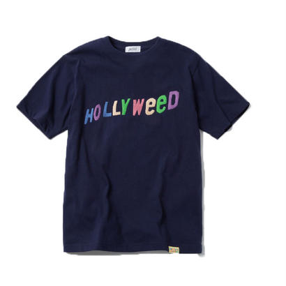 HOLLYWEED TSHIRT  (NAVY) :  GANGSTER DOODLES【CC18SS-031】