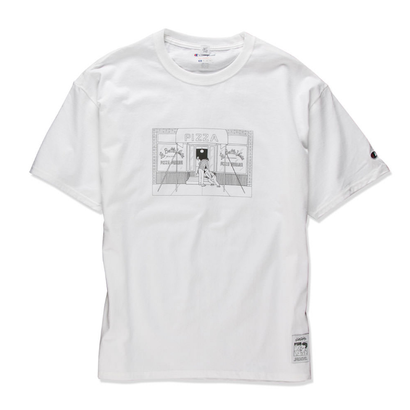 PIZZA SHOP TEE  (WHITE) :  STIKSTOK【CC16AW-TS-005】