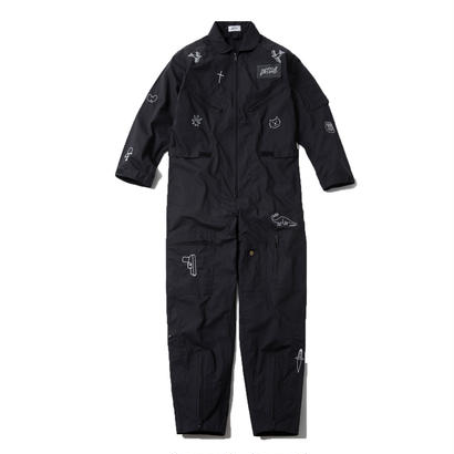 FLIGHT SUITS (BLACK) :  GANGSTER DOODLES【CC18SS-001】