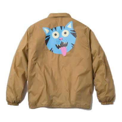 FRITZ THA CAT COACH JACKET (KHAKI) : GANGSTER DOODLES【CC18SS-002】