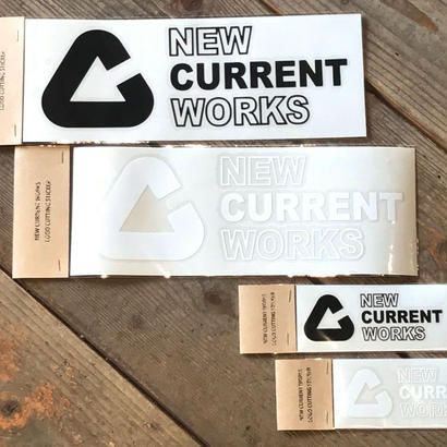 NEW CURRENT WORKS LOGO cutting sticker【Lサイズ】