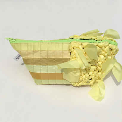 【NEW!!】pouch / squreP (yellow-01)