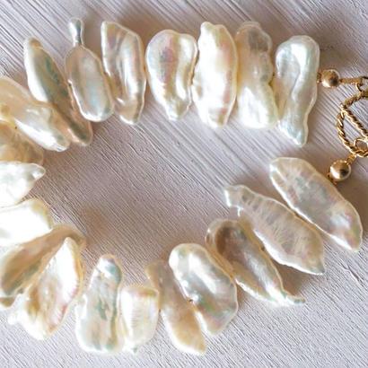 【14kgf】ケシパールのブレスレット/Keshi pearl bracelet