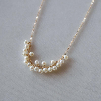 【14kgf】淡水パールのつぶつぶネックレス/Freshwater pearl necklace
