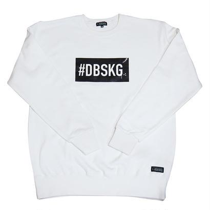DBSKG BOX-LOGO LIGHT CREW SWEAT WHITE