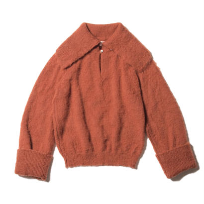 mohair sweater / brick brown
