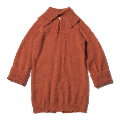 mohair one piece / brick brown