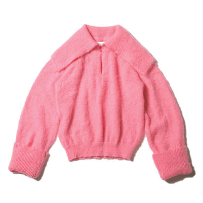 mohair sweater / cupid pink