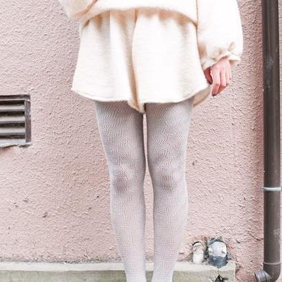 Heart knit tights / Gray