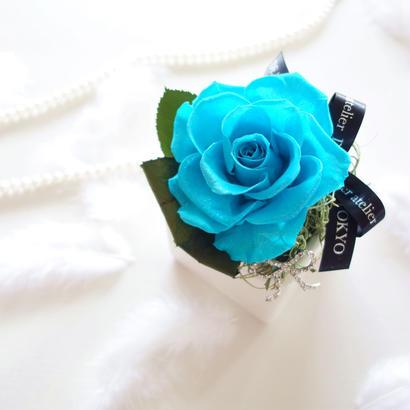 "BIRTHDAY JEWELY  ""turquoise"" 12月の誕生石【ターコイズ】をイメージしたバースデーフラワー"