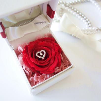 "DIAMOND ROSE ""le diamant"" (RED) ♡文字入れ♡ダイヤモンドローズの宝石箱"
