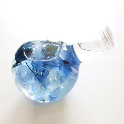 """Herbarium """"KISS"""" ブルーに心奪われるフラスコハーバリウム"""