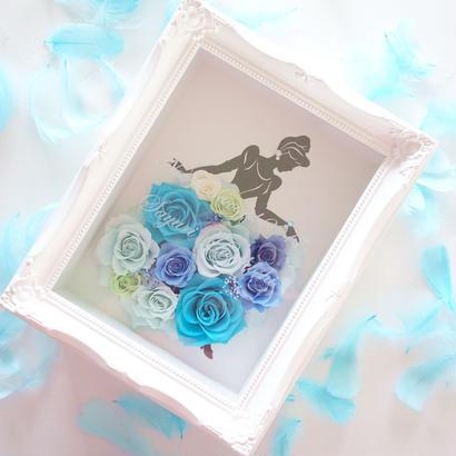 "LUXURY BOX  ""BLUE dress"" ♡名入れギフト♡バラのドレスをまとったシンデレラフレーム"