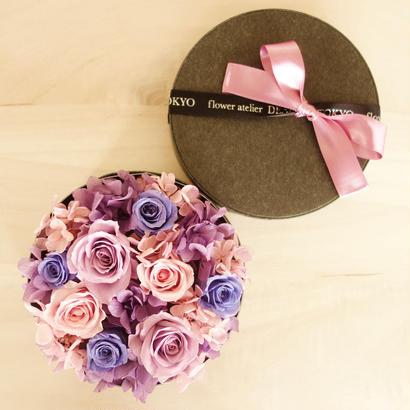 """LUXURY BOX """"Bluette des Fleurettes """"(PURPLE)花畑のようなフラワーボックス"""