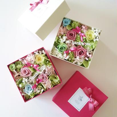 """LUXURY BOX  """"Warmth""""♡選べるメッセージ付き♡カラフルフラワーボックス"""