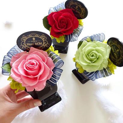 """Design Flower  """"Merci ROSE"""" ☆選べる3色☆《メッセージプレート付》母の日に贈るプリザーブドフラワーギフト"""
