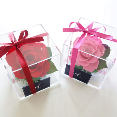 "DIAMOND ROSE ""Bijoux"" 天然ダイヤモンドラメ♡高級バラのflowerBOX"