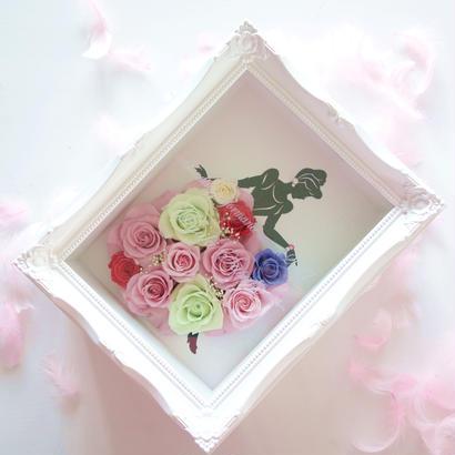 "LUXURY BOX  ""PINK dress"" ♡名入れギフト♡バラのドレスをまとったシンデレラフレーム"