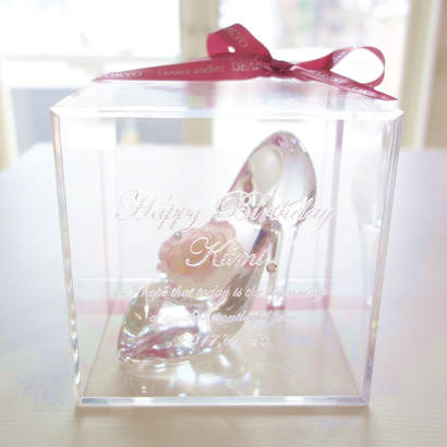 "message ROSE  ""Dearest"" ♡名入れギフト♡シンデレラのガラスの靴"