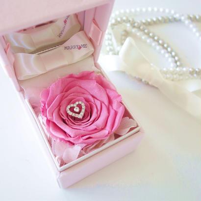 "DIAMOND ROSE ""le diamant"" (PINK) ♡文字入れ♡ダイヤモンドローズの宝石箱"