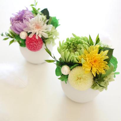 "Funeral flower ""Clair de lune"" (プリザーブドフラワーの仏花)"