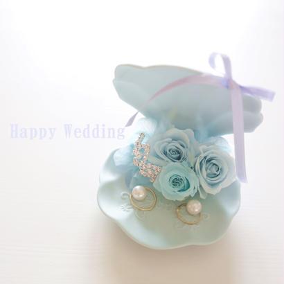 "DT's wedding  ""amor"" 海を想うリングピロー"