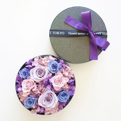 "LUXURY BOX ""Bluette des Fleurettes ""(PURPLE)花畑のようなフラワーボックス"