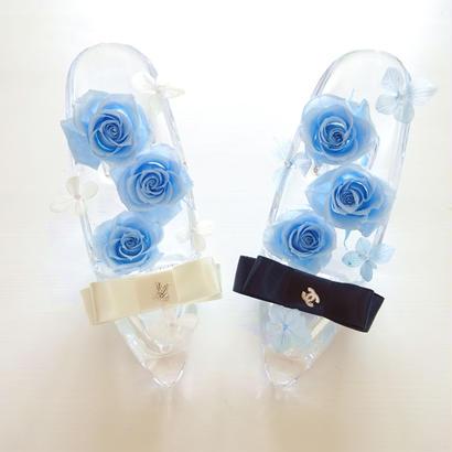 """Cinderella """"blue blue"""" ふんわりブルーローズが彩るシンデレラのガラスの靴"""