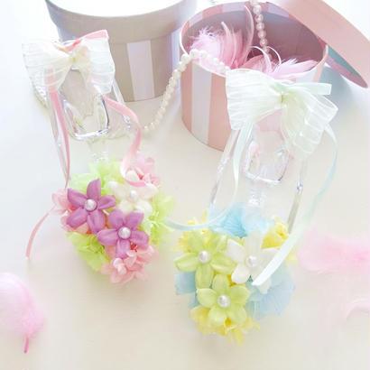 """Cinderella """"flower fairy"""" お花で彩ったシンデレラのガラスの靴 ☆リングピローにも☆"""