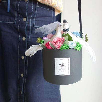 "LUXURY BOX ""FLOWER BAG Wedding""  花束の代わりに贈るフラワーバッグ【花束】【結婚祝い】【ブライダル】"